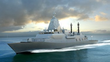 An artist's rendering of BAE Systems Global Combat Ship Australia, confirmed as the chosen design for a new fleet of frigates.