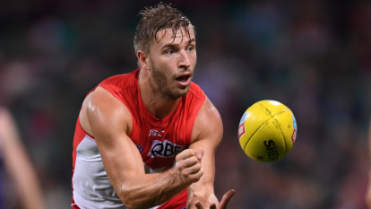 Kicking on: Jack defies the odds to reach 250 games with Swans