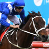 Simply the best: Winx cruises away from Benbalt to take her fourth Cox Plate.