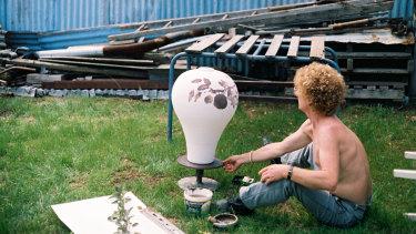 (Foliage and Fruit) ceramic vase (c. 1984)  from Brett Whiteley's catalogue raisonee.