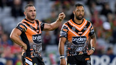Together again: Robbie Farah and Benji Marshall have played most of their careers together at the Tigers.
