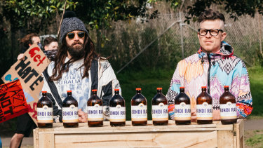 Bondi Hipsters Dom and Adrian, played by Nick Boshier and Christiaan van Vuuren, deliver a satiric wrap-up of 2020.