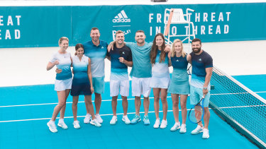 Adidas launch their new range of tennis apparel at Bondi Icebergs.