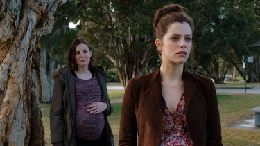 "Laura Carmichael and Jessica de Gouw in The Secrets She Keeps, a ""domestic noir"" drama on Ten."