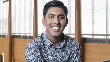 Kiran Gupta came first in the state in music 1 last year and is studying media and communications and law at the University of Sydney.