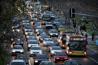 Hoddle Street continues to be one of the worst traffic choke points.