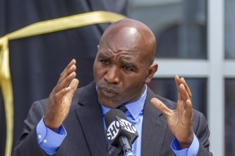 The 59-year-old Evander Holyfield has not fought in a decade.