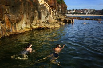 The 20-metre pool is Australia's last remaining coastal baths for women and children only and is listed with the National Trust.