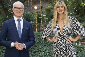 Tim Gunn and Heidi Klum host the reality fashion show <i>Making the Cut</i>.