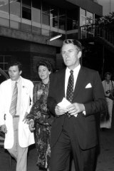 Australian Prime Minister Malcolm Fraser and his wife Tammy Fraser visit victims of the Hilton Bombing at Sydney Hospital