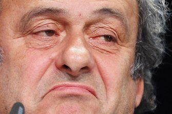 In hot water: Michel Platini is serving a four-year ban from the sport.