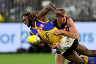 Nic Naitanui's return could tip the midfield balance in West Coast's favour.