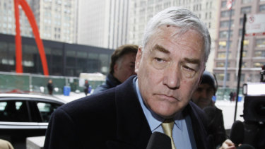 Conrad Black arrives in court in Chicago for sentencing in  2011.
