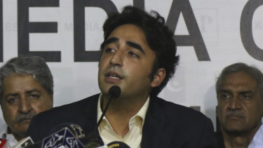 Bilawal Bhutto Zardari, leader of Pakistan Peoples Party, rejected the election process claiming it was not free and fair.
