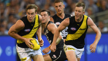 Dream team: Richmond coach Damien Hardwick can't wait to have Tom Lynch and Jack Riewoldt back in action together.