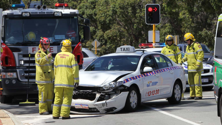 One of the many crashes near the Denny Avenue level crossing in Kelmscott.