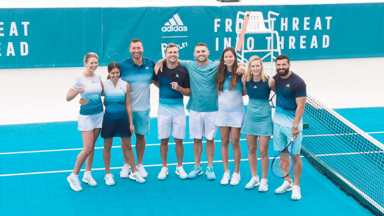 Adidas launch their new range of tennis apparel at Bondi Icebergs.