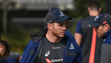 David Pocock trained with the Wallabies this week but will again miss the Test match with next month's World Cup in mind.