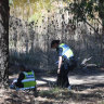 A man's body was found in the Yarrowee Creek on Saturday morning.