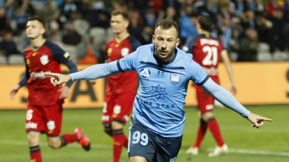 Sydney FC on cusp of title hat-trick after semi win over Adelaide