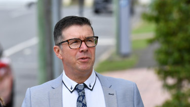 Former Ipswich Mayor Andrew Antoniolli arrives at the Ipswich Magistrates Court on Monday.