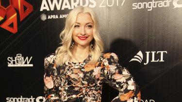 Kate Miller-Heidke at the APRA awards.
