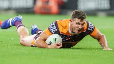 Contribution: Corey Oates did his best for Brisbane with two tries but it wasn't enough for his side.
