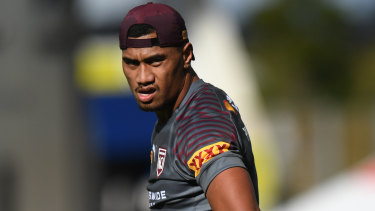 Ronaldo Mulitalo will not be able to pull on the Maroons jersey.