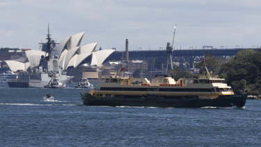 A Freshwater ferry on its way to Manly on Friday.