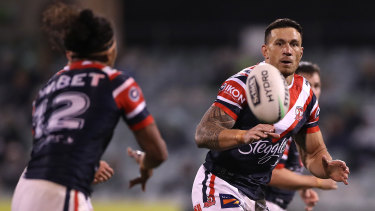 SBW during his return to the NRL in Canberra two weeks ago.