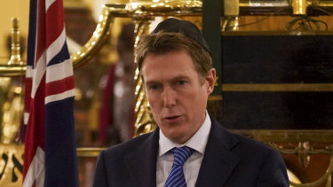 Christian Porter releases a draft of the Religious Discrimination Bill at the Great Synagogue in Sydney.