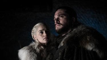 Daenerys Targaryen and Jon Snow  in the final season of Game of Thrones.