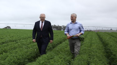 Scott Morrison and Nationals leader Michael McCormack campaign in Braddon, Tasmania, which is one of the lowest-income electorates in Australia.