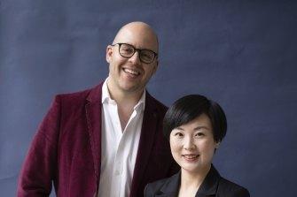 Rael Ross, co- founder of Butn and Linda Liu, managing director of Easi.