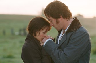 Keira Knightley and Matthew MacFadyen in the 2005 film Pride and Prejudice.