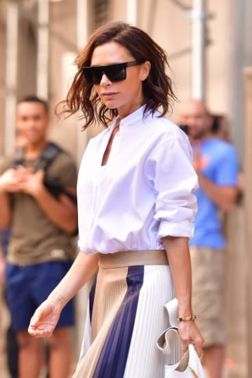 Take inspiration from Victoria Beckham and pick your favourite outfit to wear on your first day back to work.