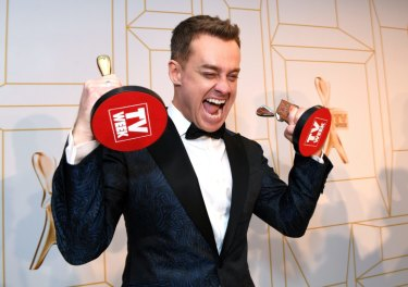 Grant Denyer won the Gold Logie for Most Popular Personality on Australian TV.