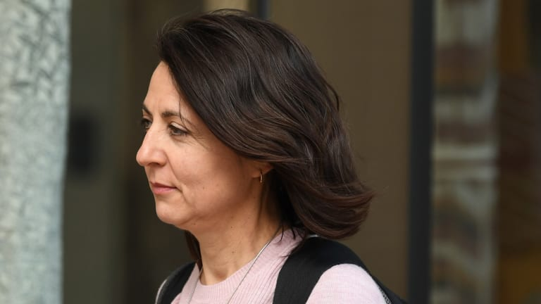 Esther Rockett leaves the Supreme Court in Sydney on Tuesday.