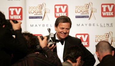 Ray Martin with his 2007 Logie, Martin and Graham Kennedy share the honour of having largest number of Gold Logie wins: five each.