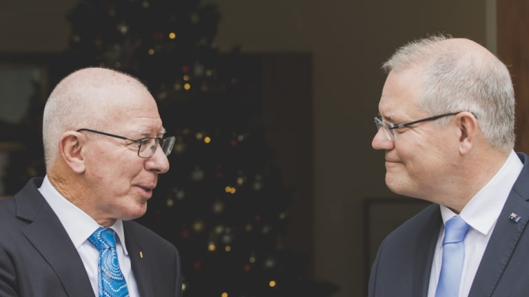 """Scott Morrison said David Hurley was his """"first and only choice"""" for the position."""