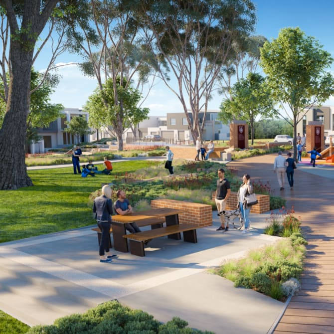 An artist's impression of the East Green development in Greenwood, which has had to go back to the drawing board.