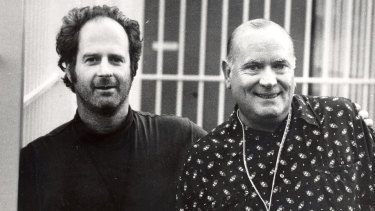 Iconic music promoters Michael Gudinski (left) and Michael Chugg, in Sydney in 1994.