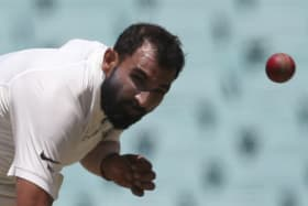 New era: Mohammed Shami bowls during the first Test.