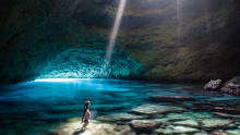 This is what most fly-in, fly-out visitors to Tanna miss out on: the stunning Blue Cave.