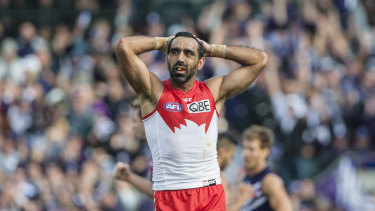 Adam Goodes was subjected to racism from rival fans in the final years of his career.