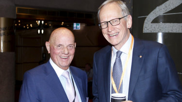 Solomon Lew and Geoff Wilson - the last two big Myer shareholders.