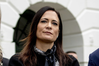 Stephanie Grisham, pictured, will become chief of staff to first lady Melania Trump.