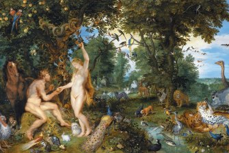 According to John Carroll, there is an invisible thread of guilt in modern society that began with the Christian original sin, seen here in  The Garden of Eden with the Fall of Man by the Flemish painter Pieter Paul Rubens.