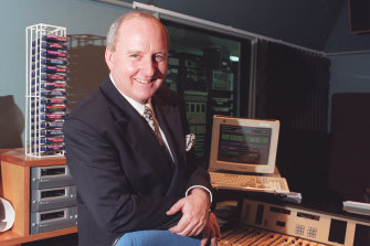 Alan Jones in the studio in 1997.