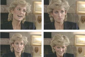Princess Diana on the BBC's Panorama program in November 1995.
